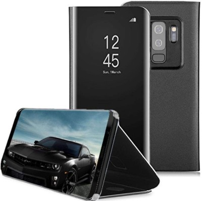 TGK Flip Cover for Samsung Galaxy S9 Plus(Black, Shock Proof)
