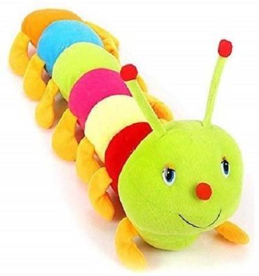 Saubhagye Cute Colourful Caterpillar Soft Toy 55cm   55 cm Multicolor Saubhagye Soft Toys