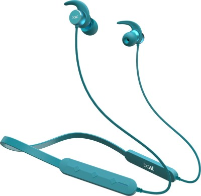 boAt Rockerz 255F Pro with Fast Charging Bluetooth Headset(Teal Green, In the Ear)