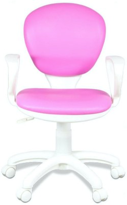 Alex Daisy Candy Leatherette Office Arm Chair(Pink)
