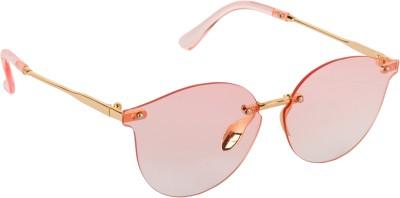 Aislin Oval Sunglasses(Pink)