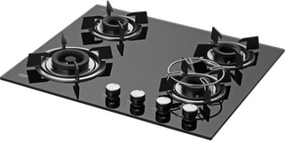 Kaff HBR 604A Glass Manual Hob(4 Burners)