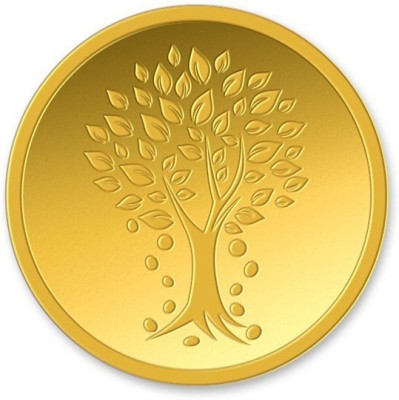 Kundan Kalpataru Tree Gold Bar 24  9999  K 4 g Yellow Gold Coin
