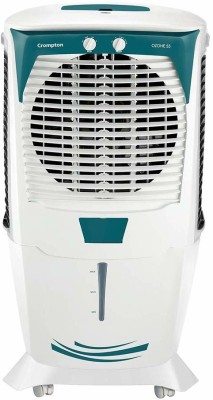 Crompton 55 L Desert Air Cooler(White, Green, OZONE 55 L)