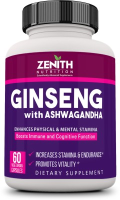 Zenith Nutrition Ginseng with Ashwagandha 60 No Zenith Nutrition Vitamin Supplement