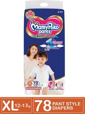 MamyPoko Extra Absorb Diaper – XL(78 Pieces)