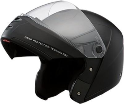 STUDDS Ninja Elite Carbon Center Strip Flip-Up Helmet Motorsports Helmet(Black With Carbon Center Strips)