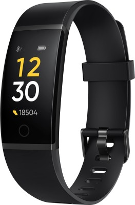 Realme Band(Black Strap, Size : Regular)