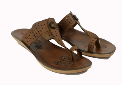 Asian Women Brown Flats