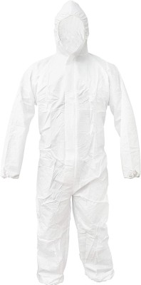 Pro-Ensure24 PPE-KIT coverall gown protect against virus Safety Jacket(White)