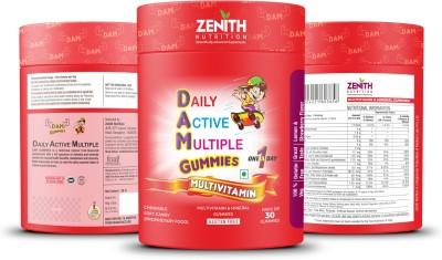 Zenith Nutrition Daily Active Multiple Gummies   30 Count | Multivitamin Multimineral 30 No Zenith Nutrition Vitamin Supplement
