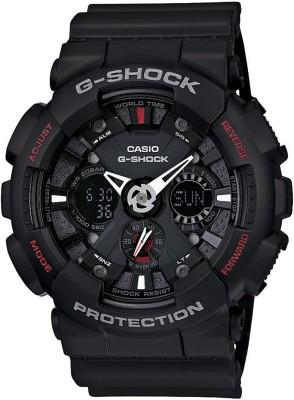 Casio G346 G Shock   GA 120 1ADR   Analog Digital Watch   For Men Casio Wrist Watches