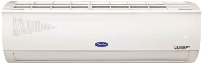 CARRIER 4 in 1 Convertible Cooling 1.5 Ton 5 Star Split Inverter AC with PM 2.5 Filter  - White(18K 5 STAR ESTER NEO-i HYBRIDJET INVERTER R32 SPLIT AC, Copper Condenser)