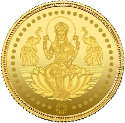Muthoot Gold Bullion Corporation 2g Lakshmi Coin 24  9999  K 2 g Gold Coin Muthoot Gold Bullion Corporation Coins   Bars
