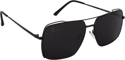 Aislin Wayfarer, Rectangular Sunglasses(Black)