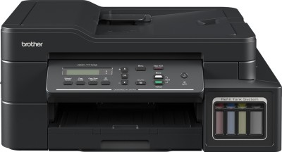 Brother DCP T710W IND Multi function WiFi Color Printer Black, Ink Bottle Brother Multi Function Printers