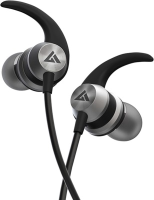 Boult Audio Bassbuds X1 Wired Headset(Grey, Black, Wired in the ear)