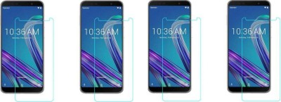 EASYBIZZ Tempered Glass Guard for Asus Zenfone Max M2(Pack of 4)