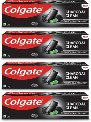 Colgate Bamboo Charcoal Clean & mint (pack of 4 ) Toothpaste  (120 g, Pack of 4)