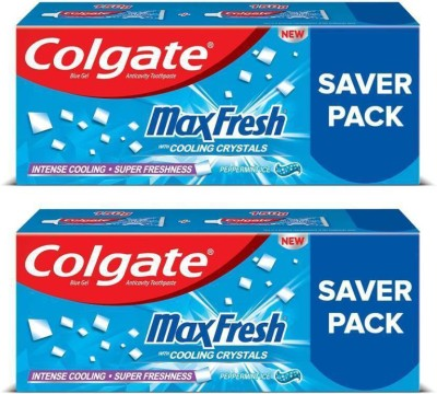 Colgate MaxFresh Anticavity Gel, Peppermint Ice Toothpaste(600 g, Pack of 2)