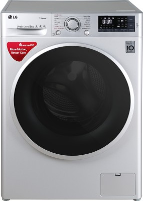LG 8 kg Inverter Wi-Fi Fully-Automatic Front Loading Washing Machine with Inbuilt Heater & TurboWash Silver(FHT1408SWL)