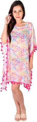 The Kaftan Company Printed VISCOSE GEORGETTE Women