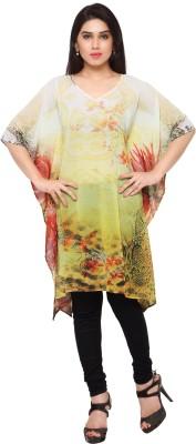 LEEWODEAL Printed Georgette Women's Kaftan
