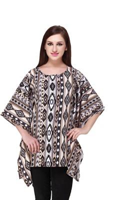 Cottinfab Printed Cotton Viscose Blend Women Kaftan