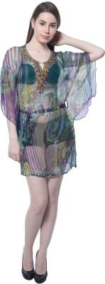 Florrie Fusion Printed Viscose Chiffon Women's Kaftan