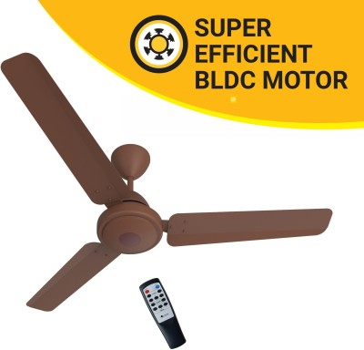 Atomberg Efficio 1200 mm BLDC Motor with Remote 3 Blade Ceiling Fan(Matte Brown, Pack of 1)