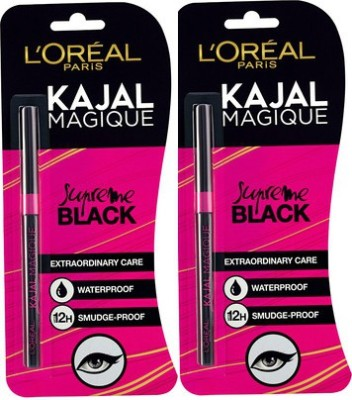 L'Oreal Paris Magique Kajal Pack of 2(Black)
