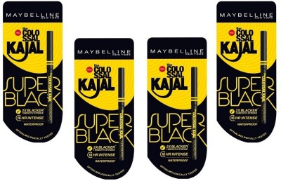 Maybelline Colossal Kajal Super Black (Pack Of 4)(Black)