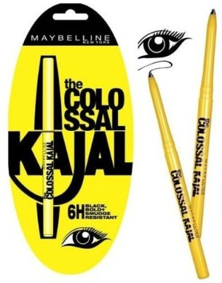 Maybelline 12 hours hr Smudge Proof Colossal Kajal Black, 1.5 ML