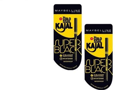 Maybelline Colossal Super Black Kajal (pack of 2 )(Black)