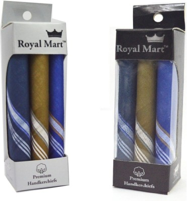 Royal Mart 6 Piece Colour 15 Inch Complete Face Cover Handkerchief Men's Cotton Striped | Comfortable and Convenient for long hours | Multi Colour | [
