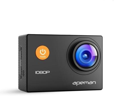 Apeman 1080P Full HD Waterproof Sport Camera Action Camera Sports and Action Camera Black, 4000 MP Apeman Sports   Action