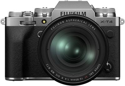 Fujifilm X Series X-T4 Mirrorless Camera Body with XF16-80 Lens(Silver)
