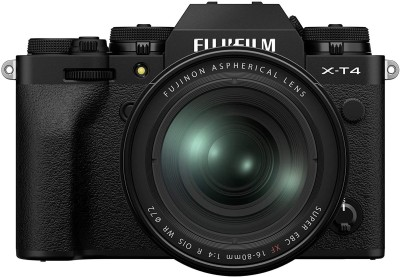 Fujifilm X Series X-T4 Mirrorless Camera Body with XF 16-80mm Lens(Black)