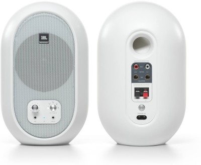 JBL PROFESSIONAL 104 Compact Desktop Reference 60 W Bluetooth Studio Monitor  (White, Stereo Channel)