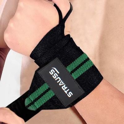Strauss WL Cotton Wrist Support(Green, Black)