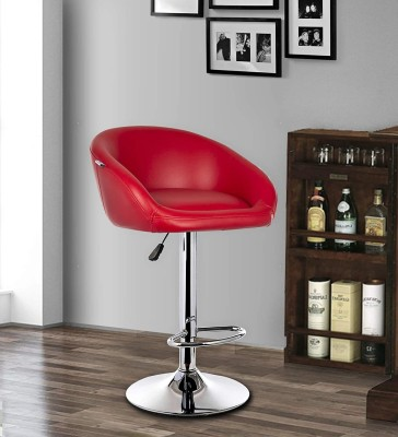 MBTC Judith Leatherette Bar Stool(Finish Color - Red)