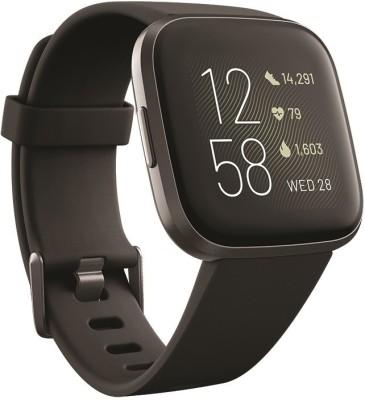 Fitbit Versa 2 Smartwatch(Black Strap, Regular)