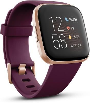 Fitbit Versa 2 Smartwatch(Purple Strap, Regular)