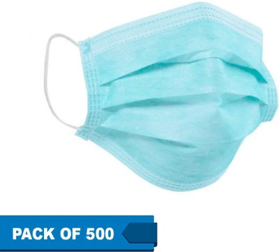 SKC Surgical Mask SM-500 Surgical Mask With Melt Blown Fabric Layer Surgical Mask With Melt Blown Fabric Layer  (Free Size, Pack of 500, 3 Ply)