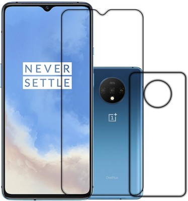 k2-Tech square Front and Back Tempered Glass for ONEPLUS 7T(Pack of 2)