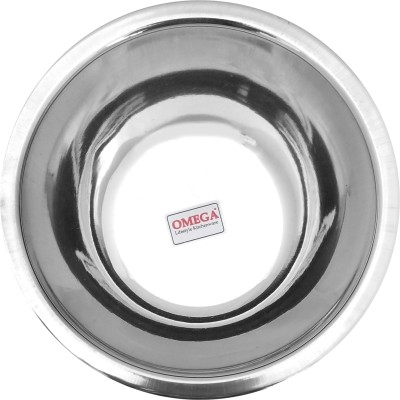 Omega Stainless Steel Serving Bowl(Steel, Pack of 1)