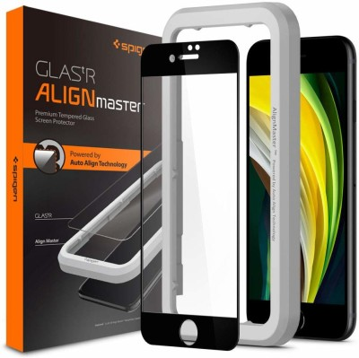 Spigen Edge To Edge Tempered Glass for Apple iPhone SE 2020, Apple iPhone 8, Apple iPhone 7(Pack of 1)