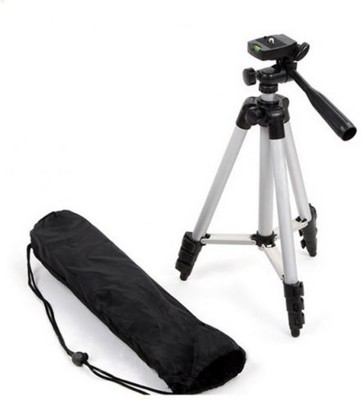 AONEQUALITY WORLD Tripod Professional Portable Aluminum Legs For Mobile, Tripod (Silver, Black, Supports Up to 1500 g) Tripod(Silver, Supports Up to 1500 g)