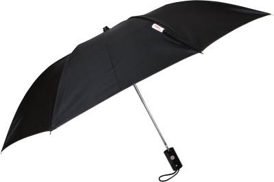 Fendo 2 Fold Auto Open Metallic Fashion Umbrella(Black, Brown)