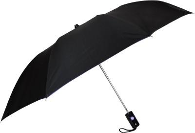 Fendo 2 Fold Auto Open Regular Umbrella(Black, Purple)